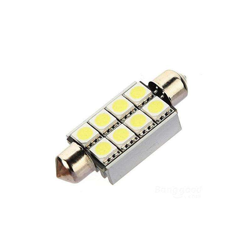 Festoon Dome 6pcs 5050SMD,  42mm, Blanco frío